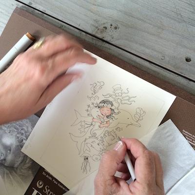 Mary draws