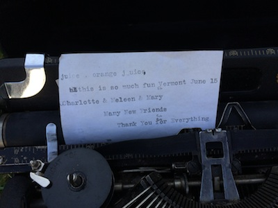Typewriter message
